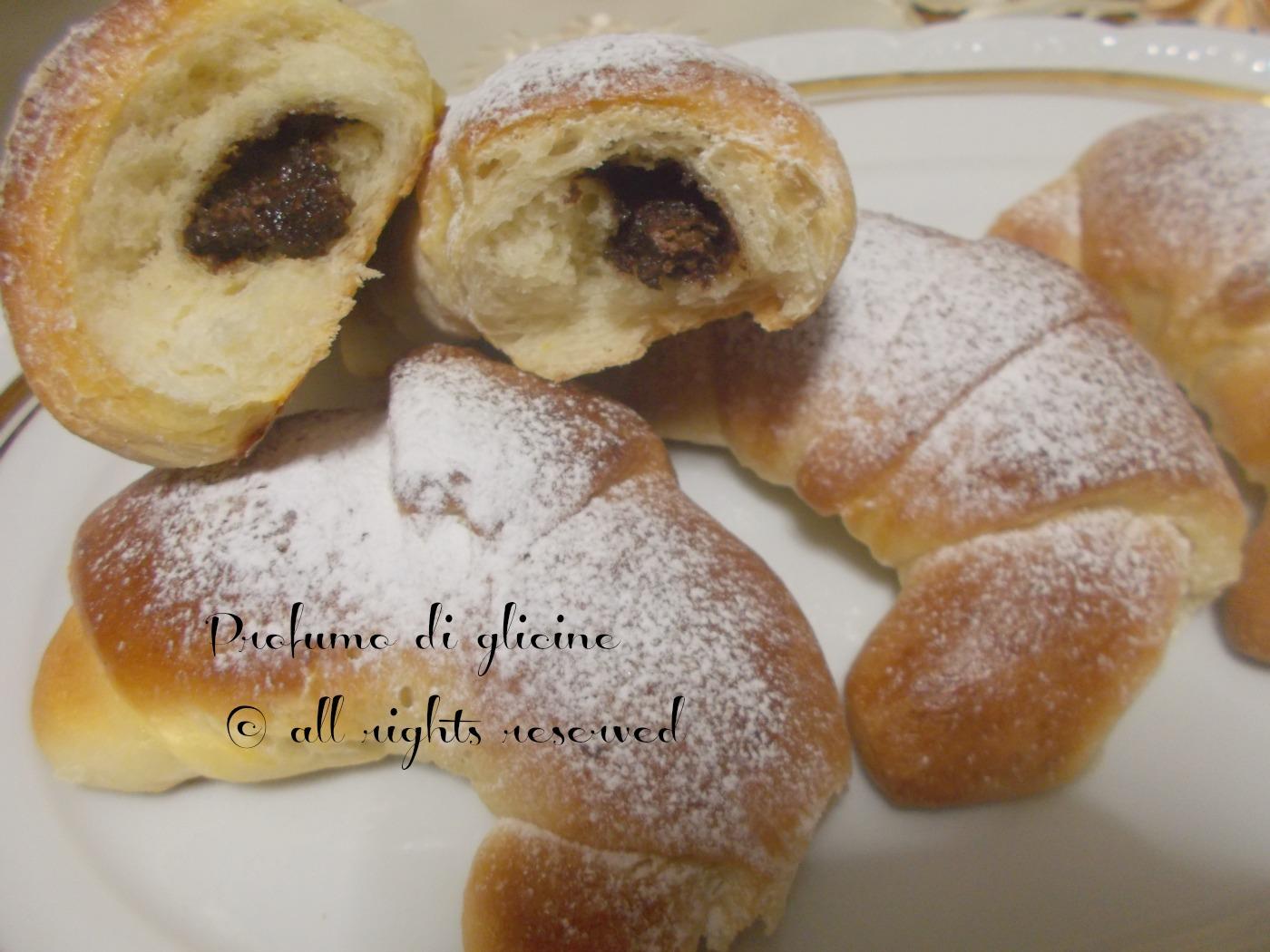 Amato Cornetti di pan brioche alla nutella - ricetta con lievito madre HU19