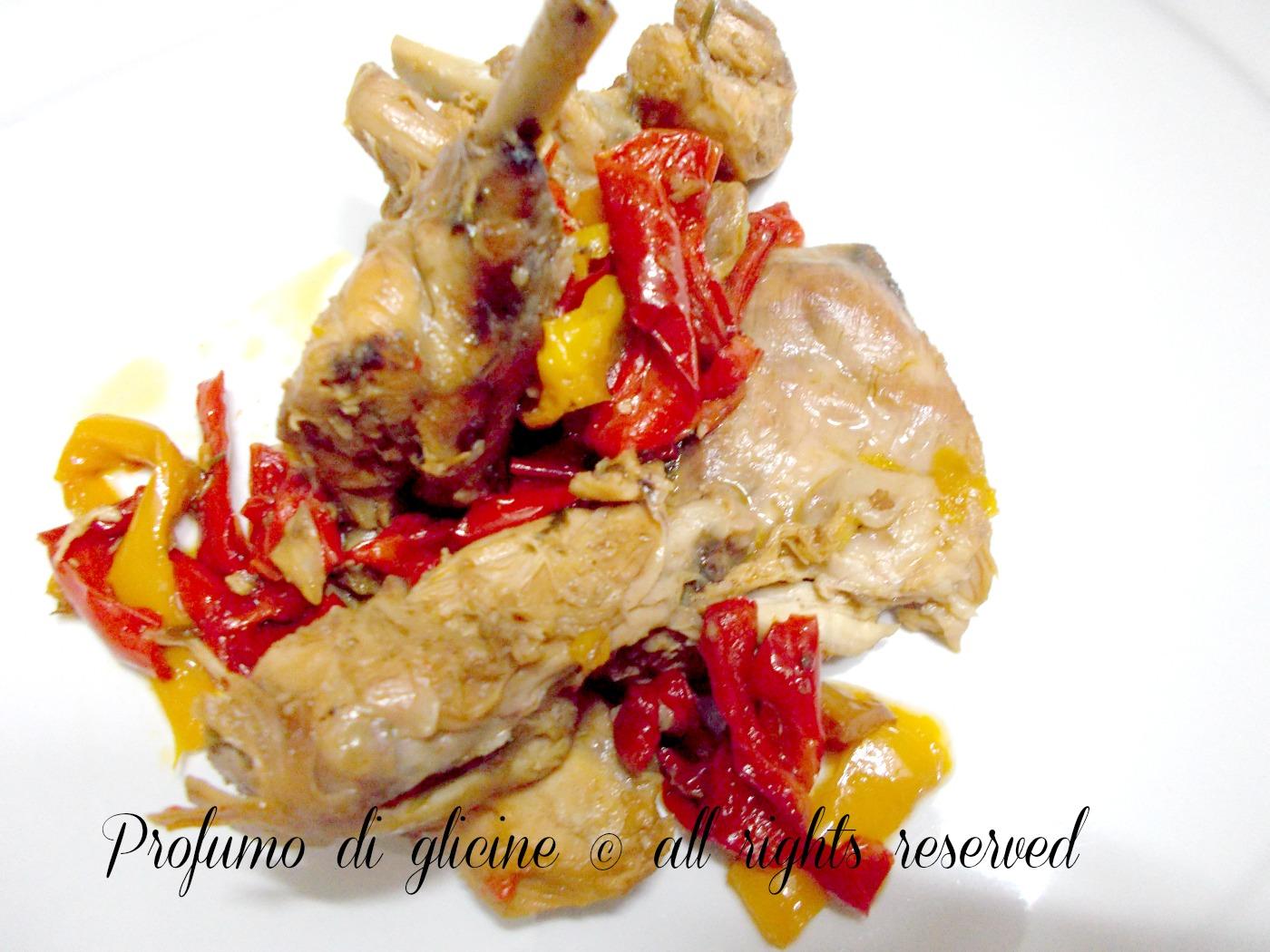 coniglio ai peperoni - ricetta semplice