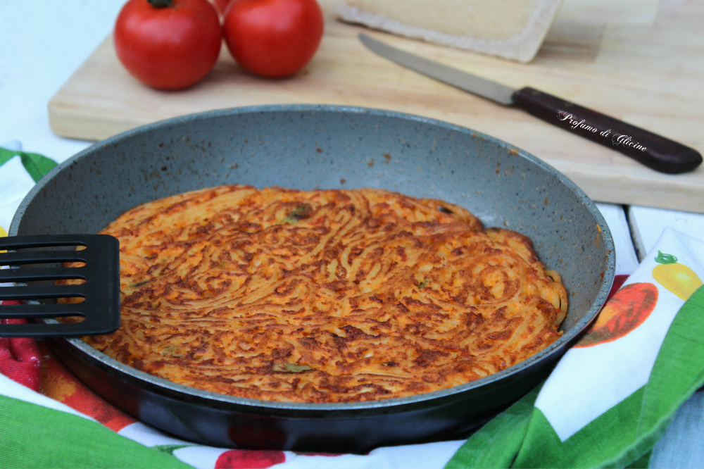 Frittata di pasta con fagiolini