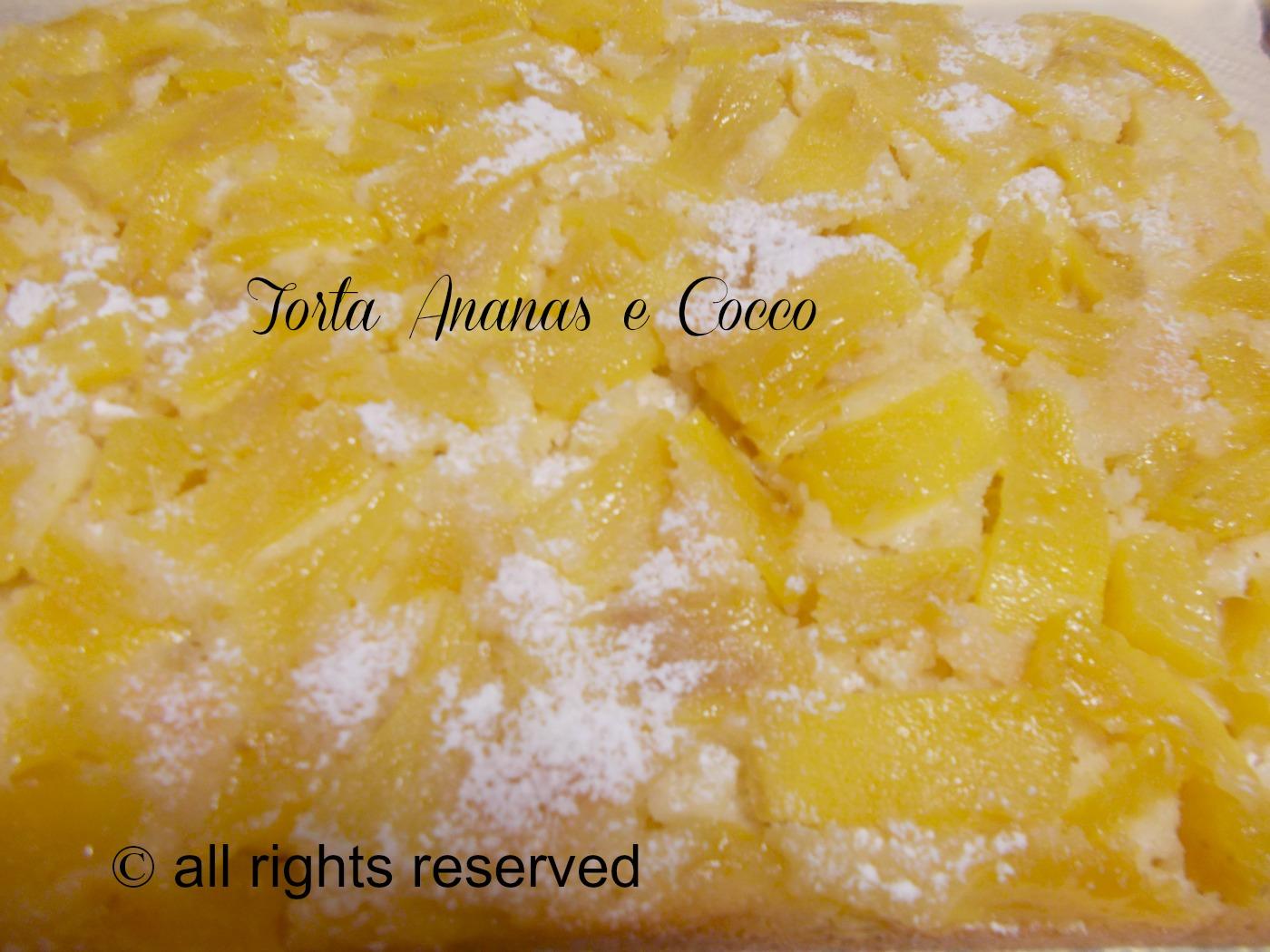 la Torta ananas e cocco