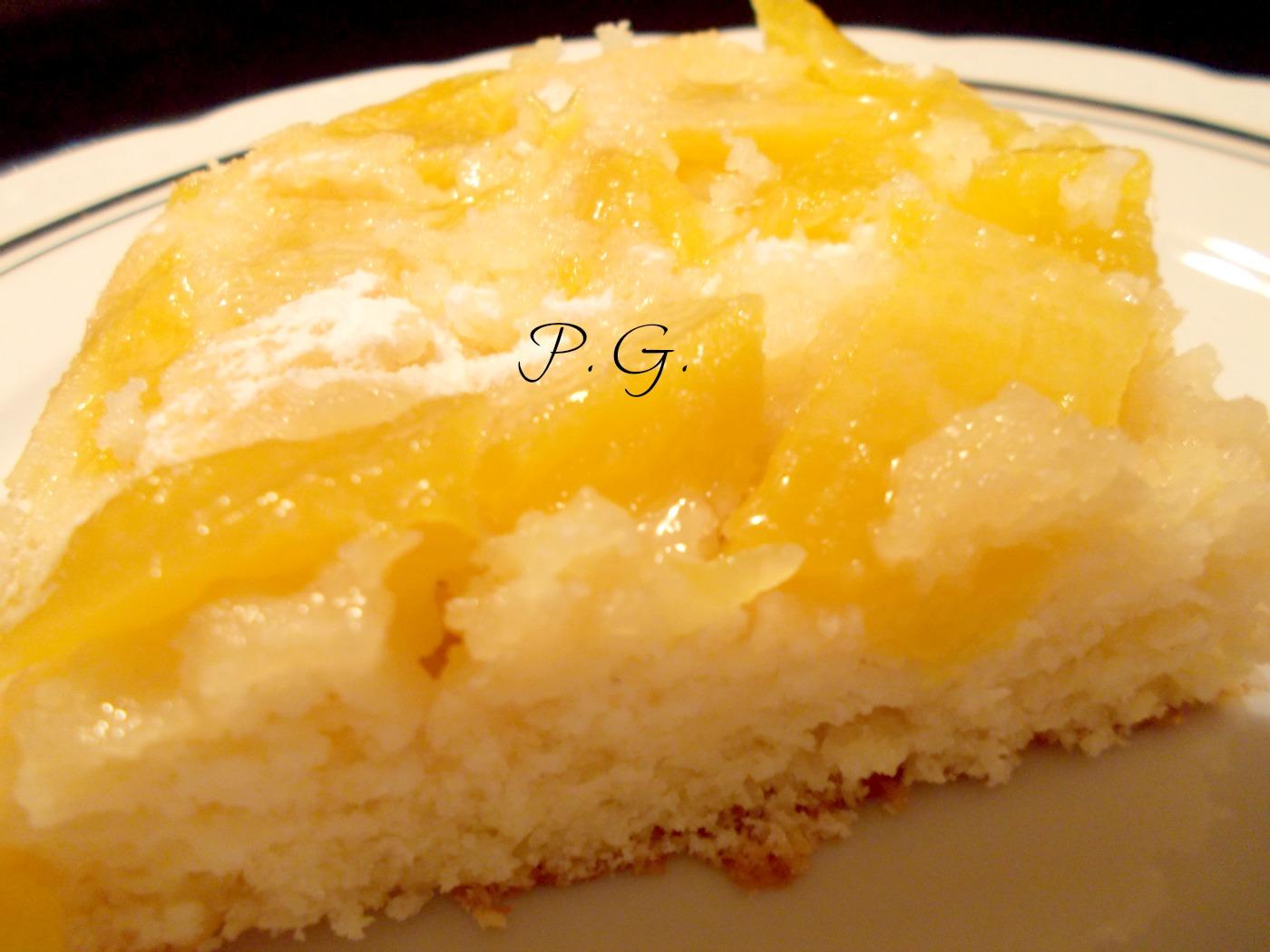 la torta di ananas e cocco