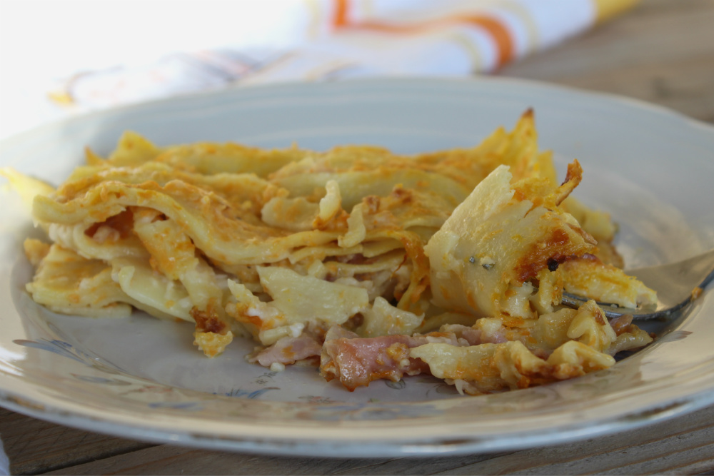 Lasagne cremose prosciutto cotto e zucca