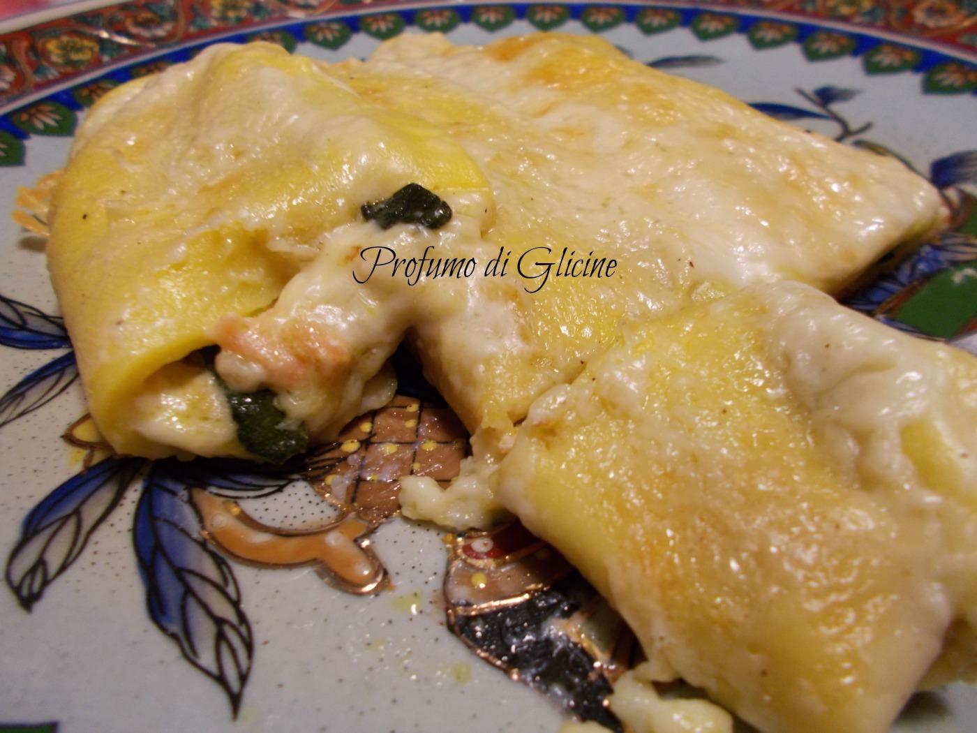 crespelle al salmone con zucchine e ricotta