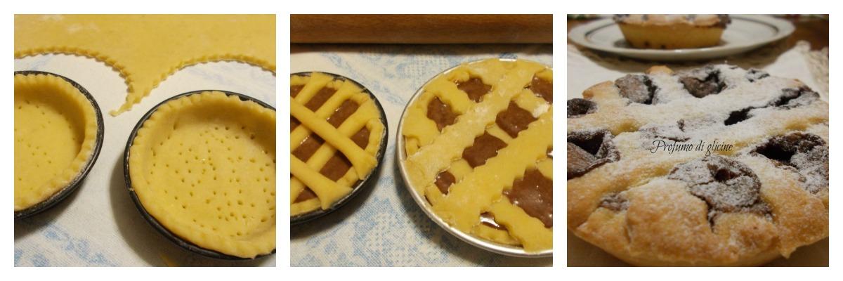 tortine farcite con pere e crema gianduia