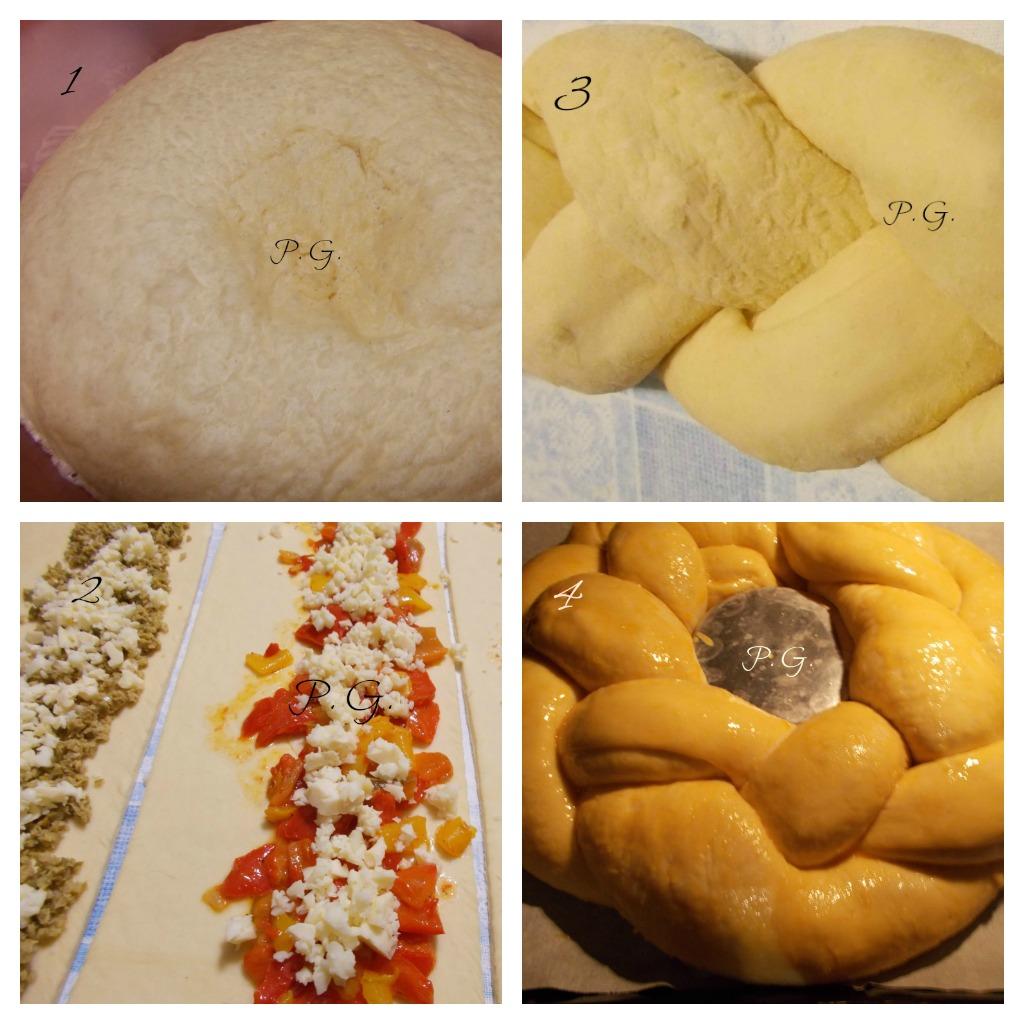 corona di pan brioche - ricetta centrotavola di Natale