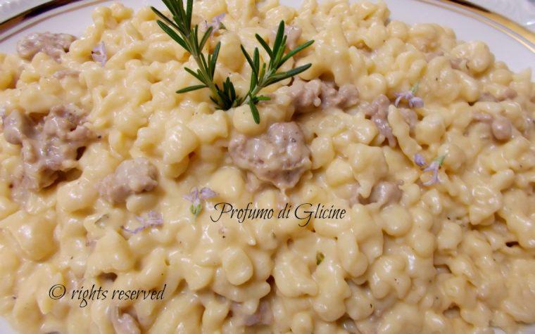 Spatzle crema di zucca e salsiccia ricetta gustosa