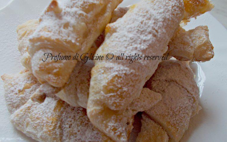 Cornetti di pasta sfoglia – ricetta veloce