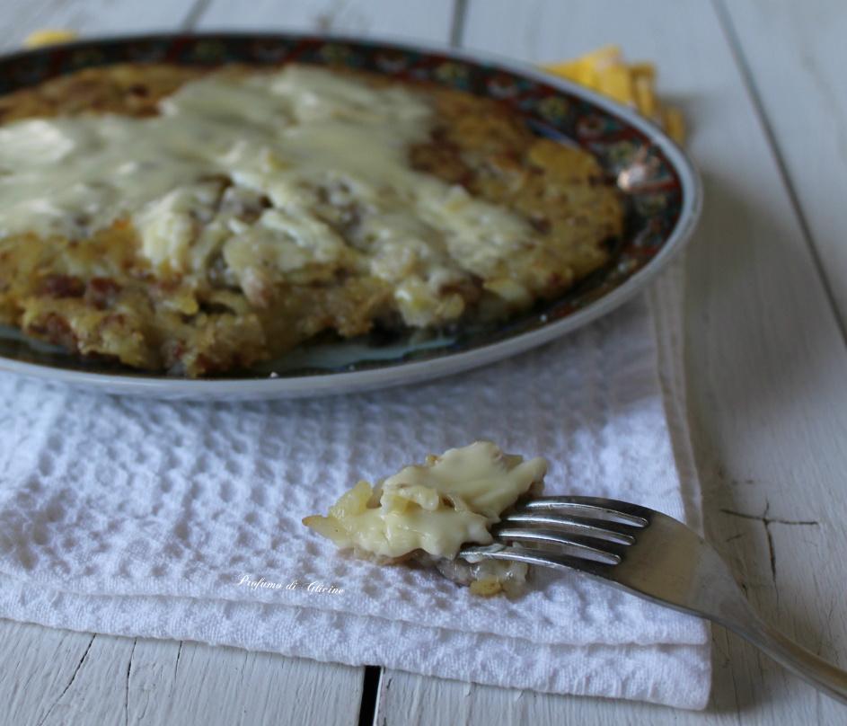 Rosti di patate con formaggio filante