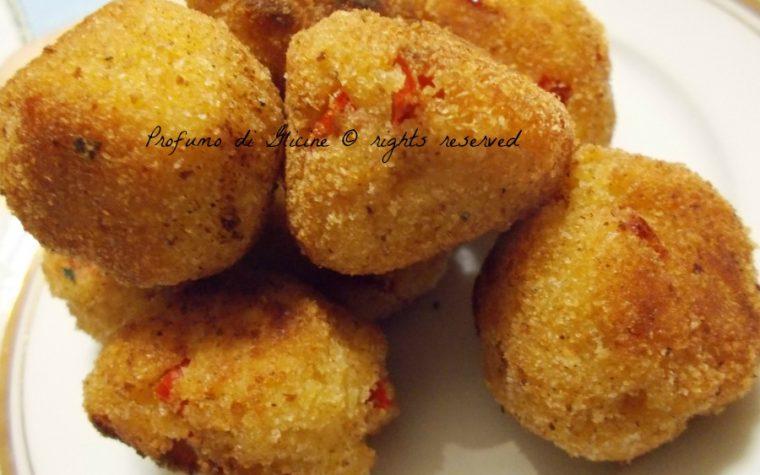 Polpette di merluzzo e peperoni - ricetta finger food