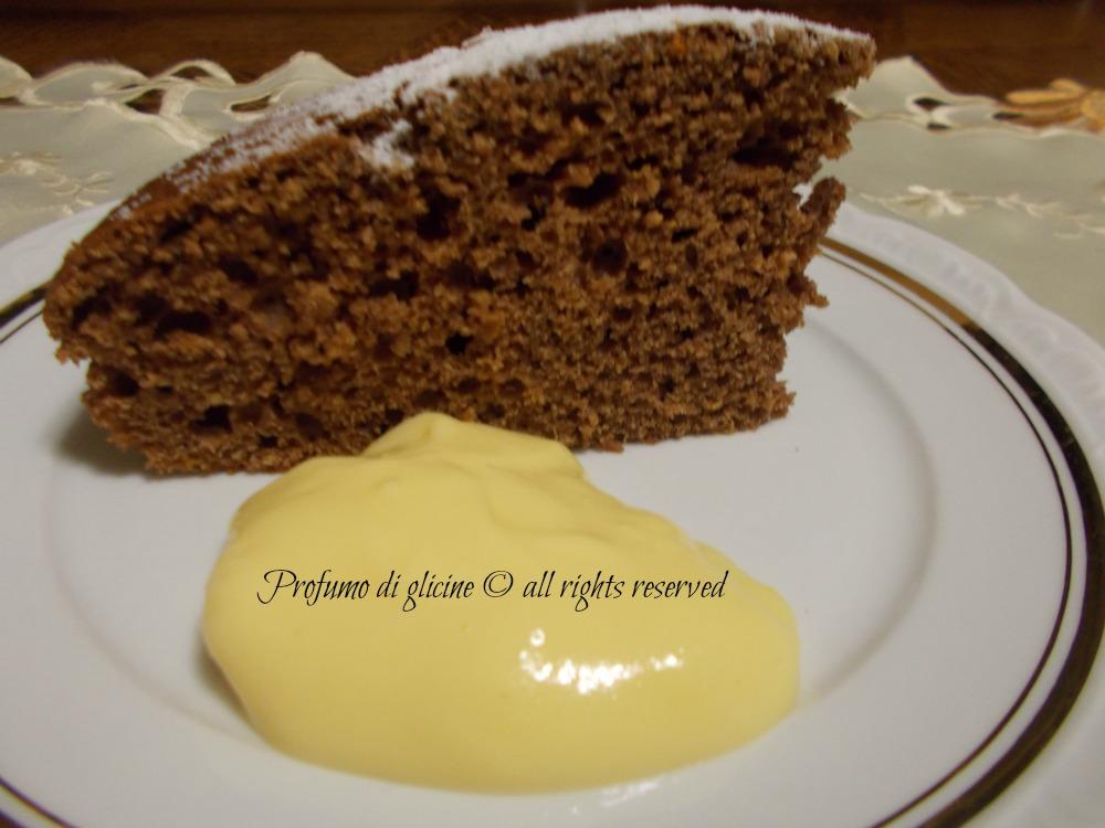 torta al cioccolato con crema di arancia
