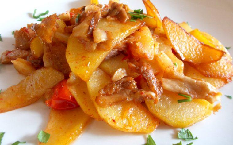 Funghi e patate in padella – contorno saporito
