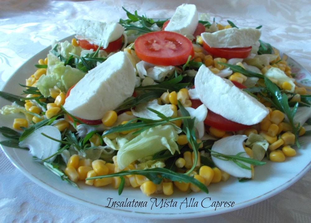 insalatona mista alla caprese