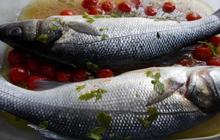 Branzino o spigola acqua pazza – ricetta secondi di mare