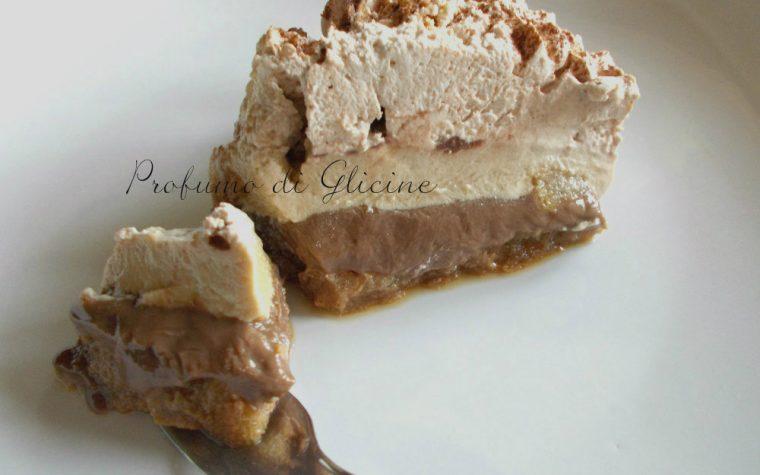 Torta gelato al cioccolato e caffé