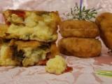 crocchette di patate con portulaca e peperoni
