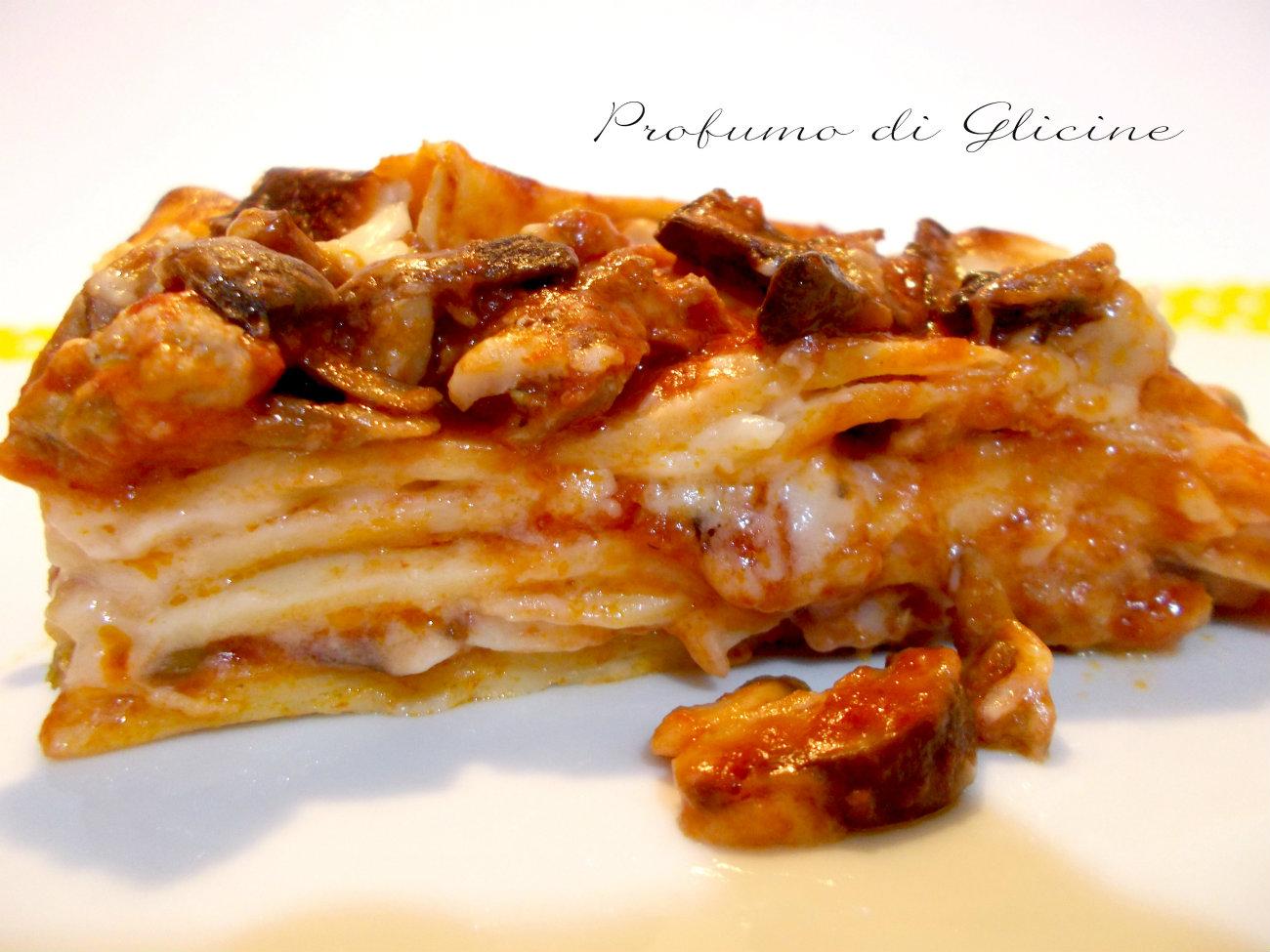 lasagne pasticciate ai funghi