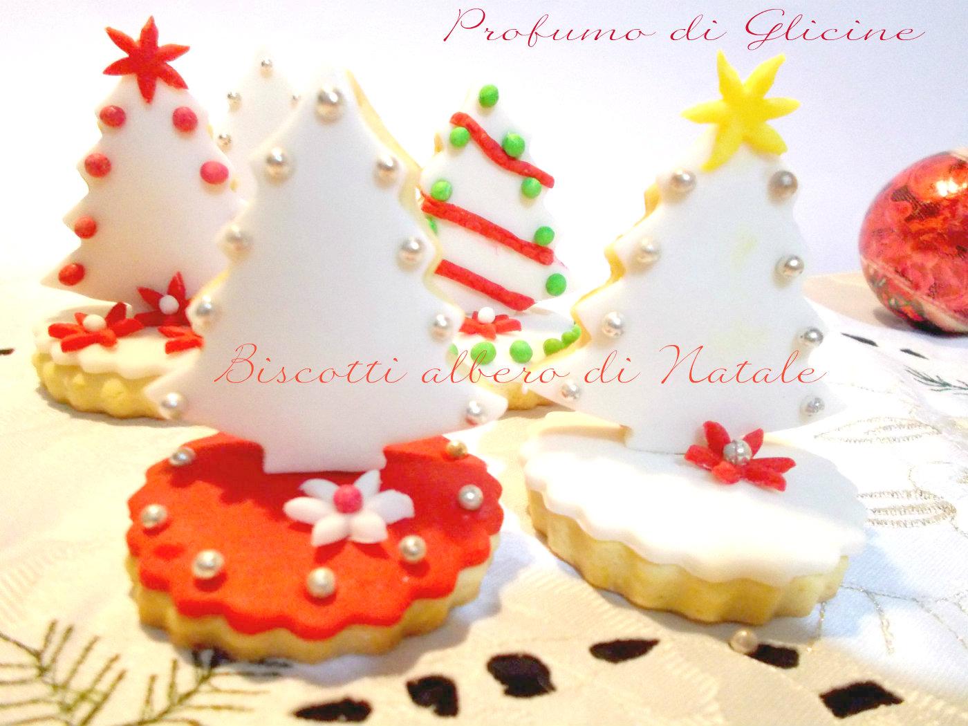 biscotti alberello di natale decorati con pasta di zucchero - Decorazioni Con Biscotti