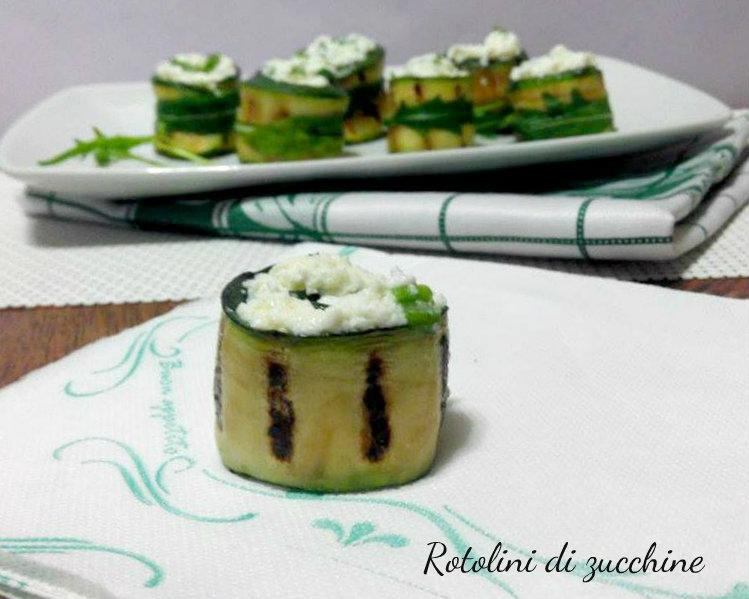 Rotolini di zucchine con rucola e ricotta