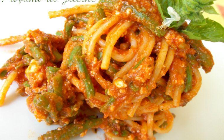 Pasta con fagiolini e ricotta – ricetta primo piatto veloce
