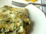 Lasagne cremose con tarassaco patate e salsiccia