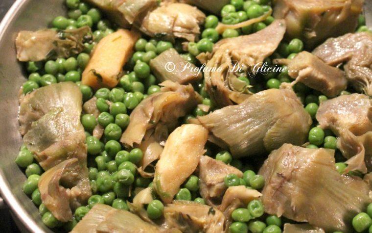 Piselli e carciofi – ricetta contorno semplice e veloce