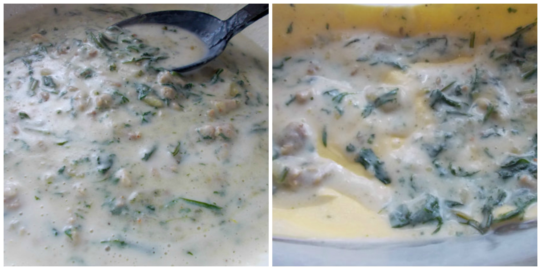 Besciamella per lasagne cremose con tarassaco e patate