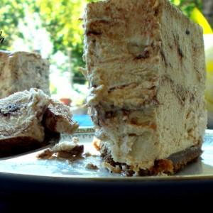 Cheesecake tiramisù variegata alla nutella