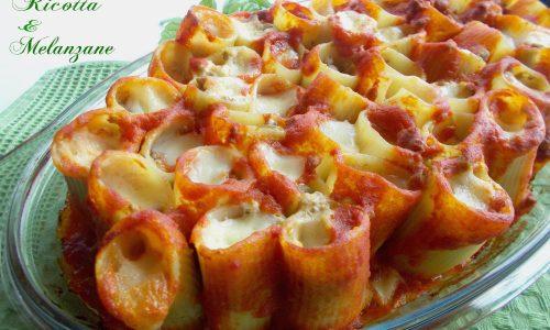 Paccheri ripieni ricotta e melanzane ∼ ricette della domenica