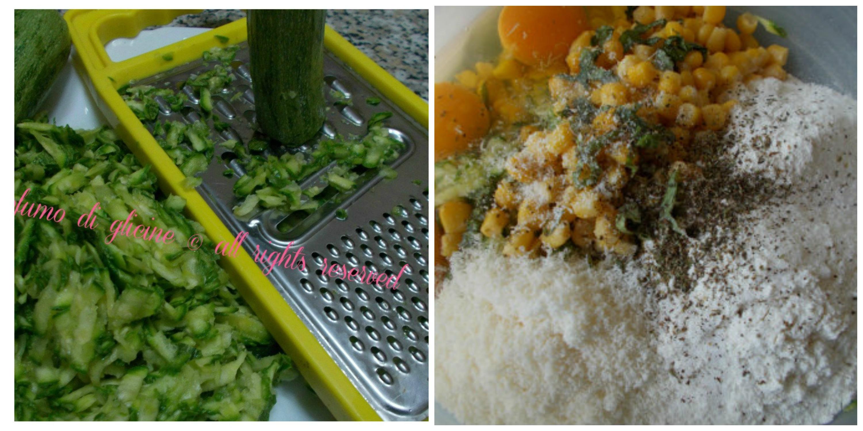 frittelle di zucchine e mais
