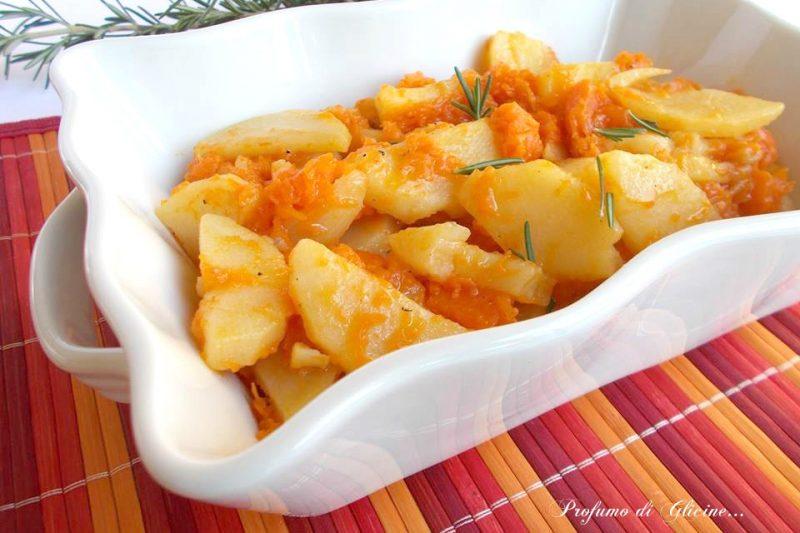 Patate e zucca padella-ricetta contorno saporito
