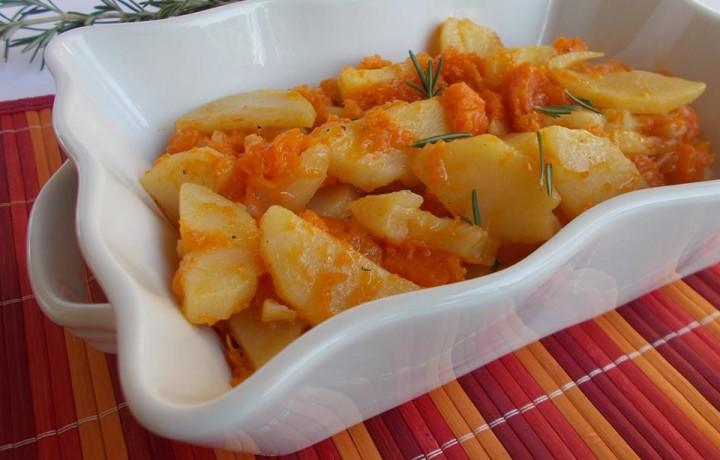 Patate e zucca in padella-ricetta contorno saporito
