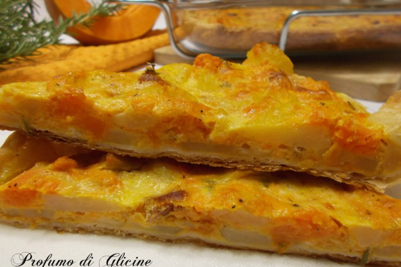 Torta salata patate e zucca – ricetta sfiziosa