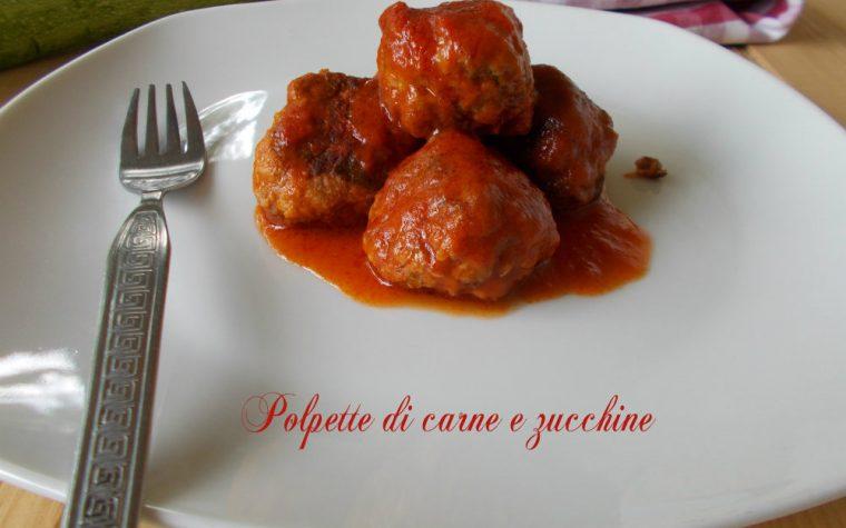 Polpette carne e zucchine al sugo - polpette saporite