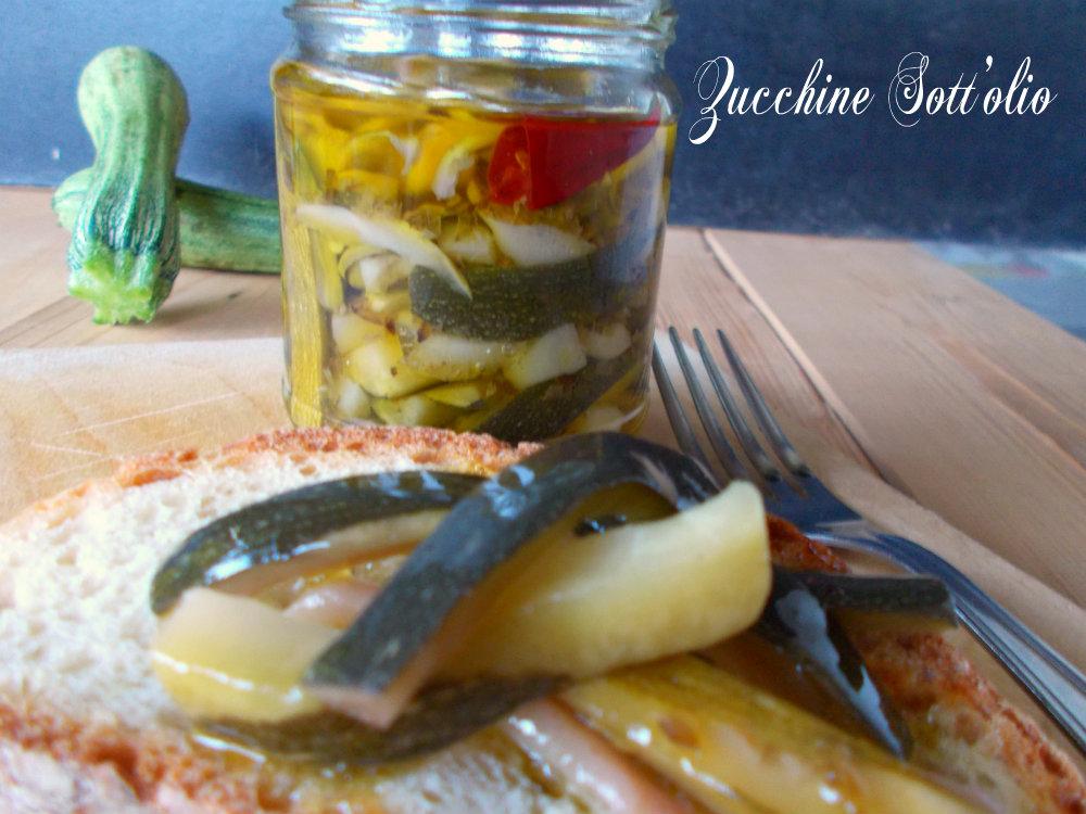 Zucchine sotto olio - ricette conserve