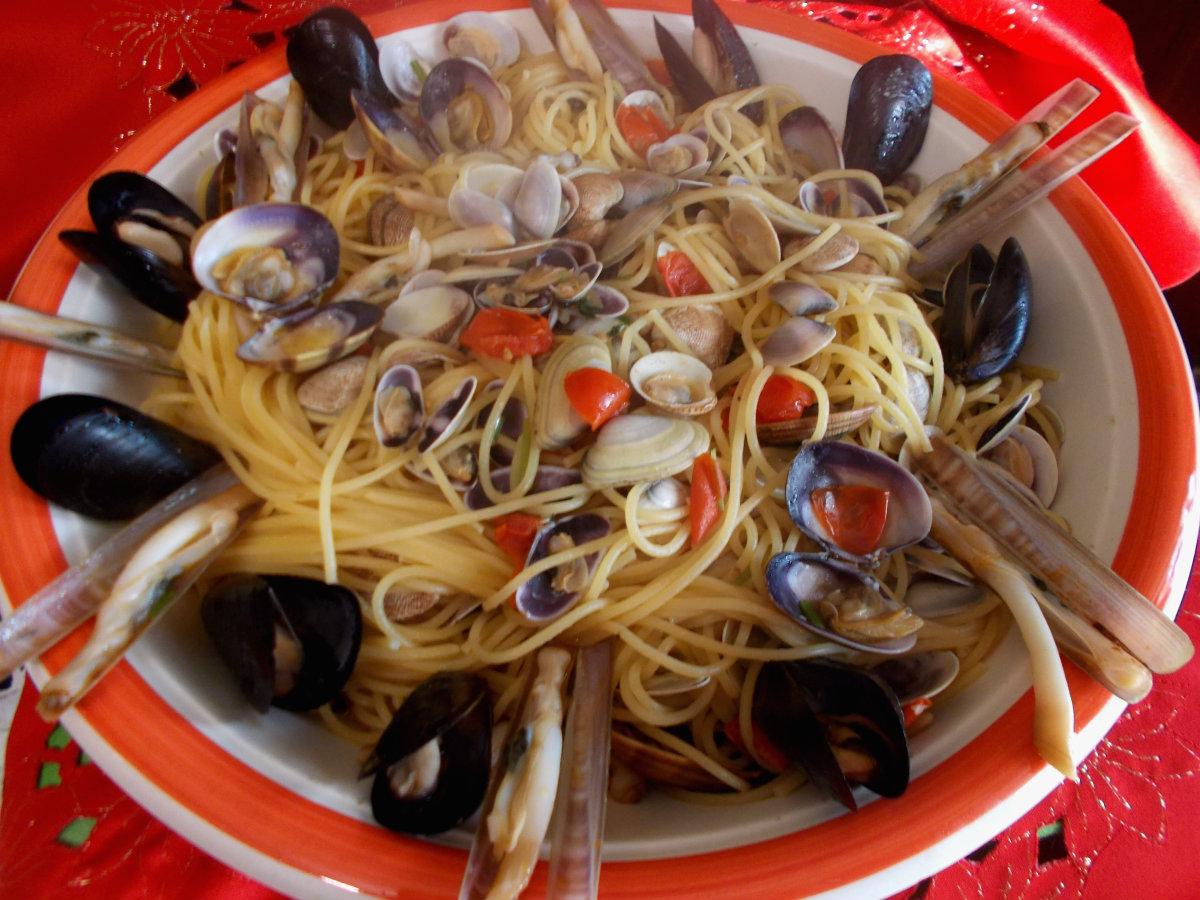 Spaghetti ai frutti di mare - cenone della vigilia