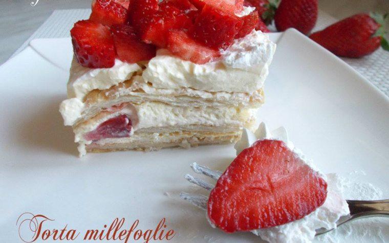 Torta millefoglie alle fragole – dolce facile e goloso