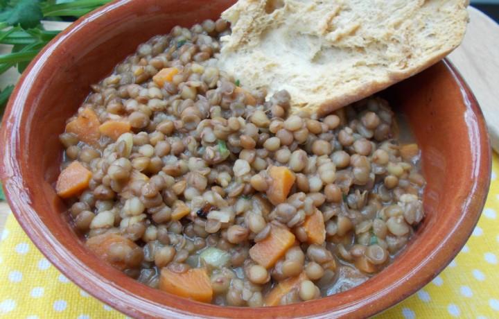 Zuppa di lenticchie – ricetta light