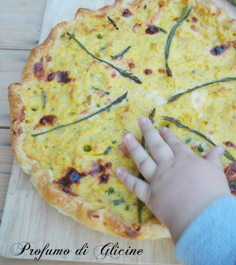 torta sbriciolata patate e asparagi