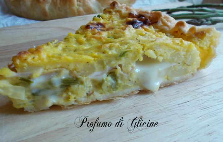 Torta sbriciolata patate e asparagi  ∼ ricetta picnic