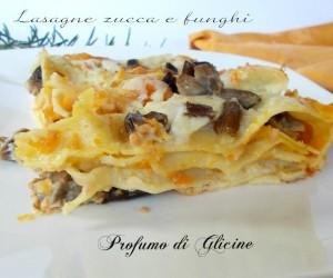 lasagne zucca e funghi