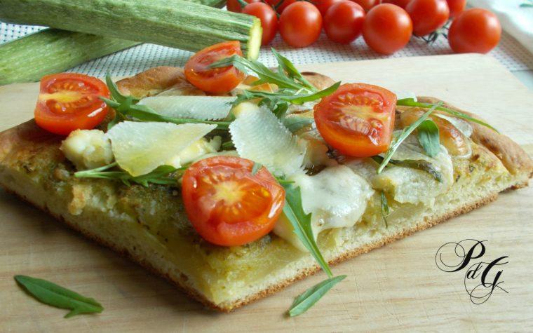 Pizza al pesto di zucchine – ricetta semplice