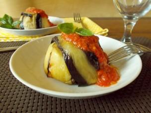 Tortini di pasta e melanzane