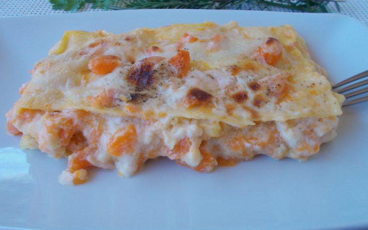 Lasagne zucca e salmone