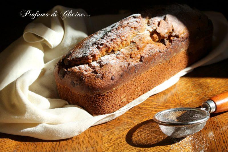 Banana bread cioccolato e nocciole