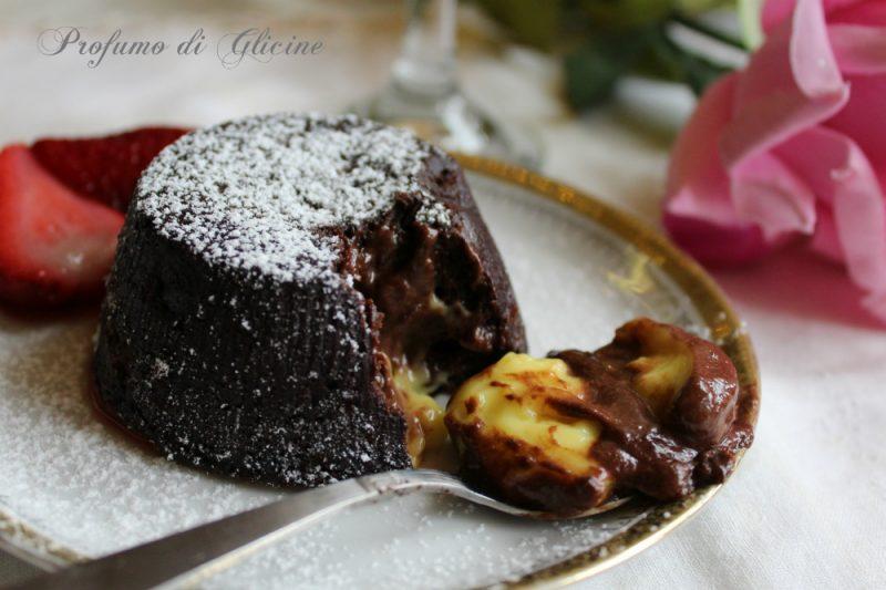 Tortino di cioccolato con cuore fondente al limoncello