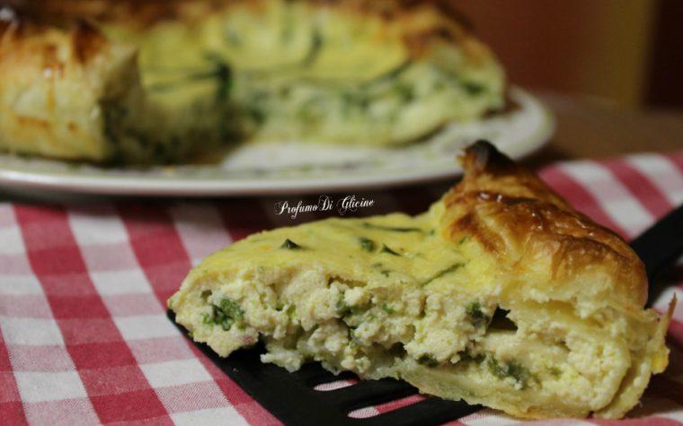 Torta salata ricotta e asparagi