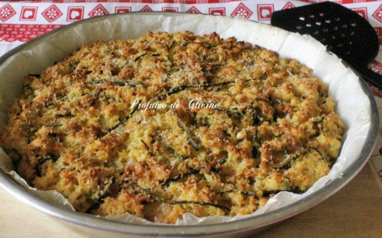 Pizza di pane agli asparagi