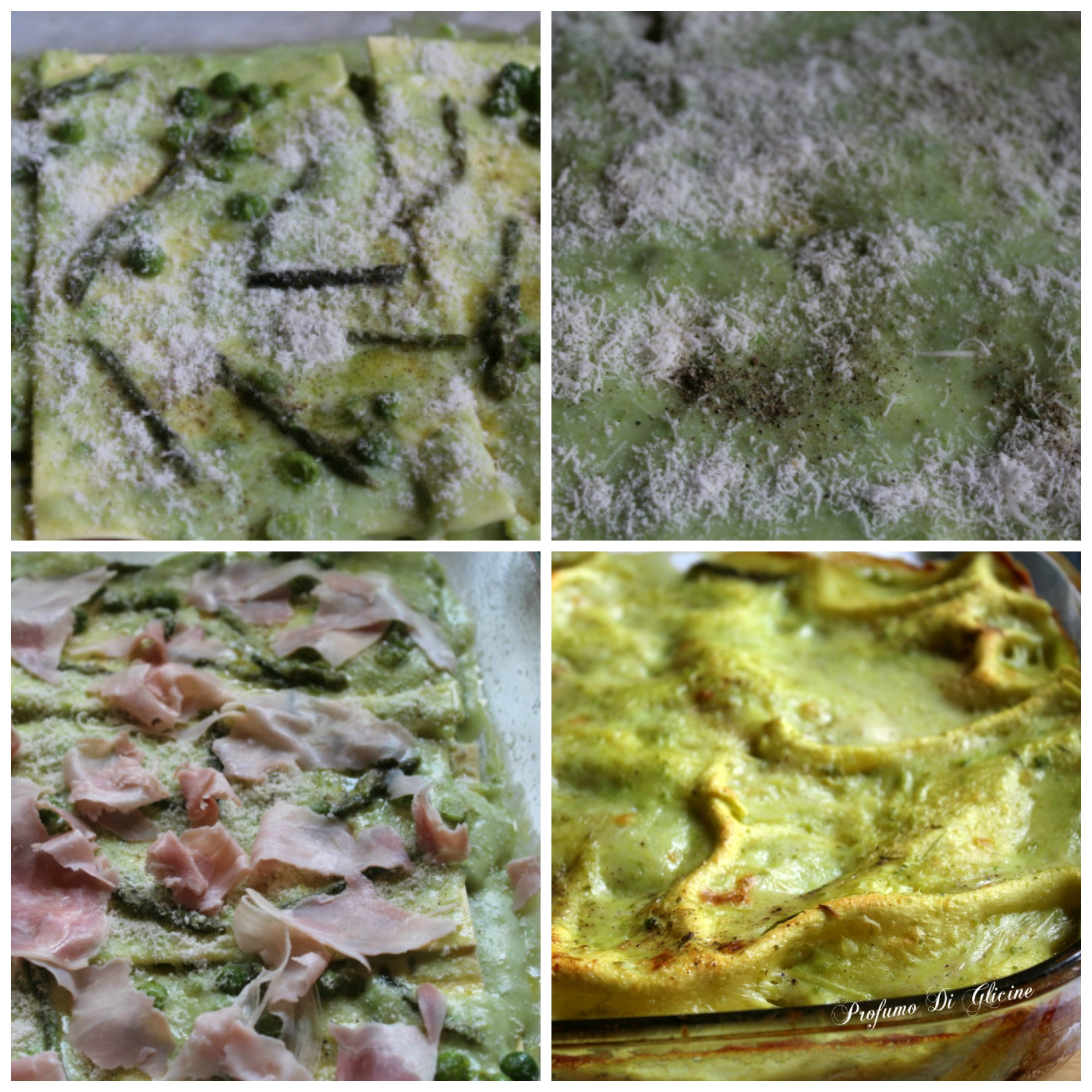 Lasagne con asparagi e piselli