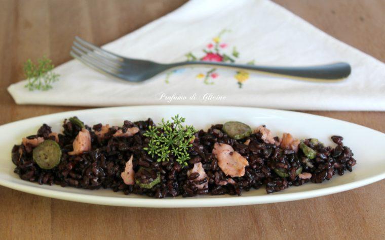 Riso Venere salmone e zucchine - Piatti freddi