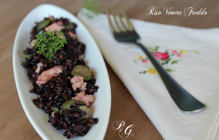 Riso Venere salmone e zucchine – Piatti freddi